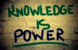 Η γνώση είναι έννοια δύναμης Στοκ φωτογραφίες με δικαίωμα ελεύθερης χρήσης