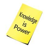 Η γνώση είναι ισχύς στοκ φωτογραφίες
