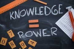 Η γνώση είναι μια επιγραφή δύναμης Στοκ εικόνα με δικαίωμα ελεύθερης χρήσης