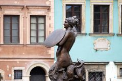 Η γοργόνα της Βαρσοβίας Στοκ εικόνες με δικαίωμα ελεύθερης χρήσης
