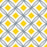 Η γραμμή σύρει το κίτρινο λαϊκό σχέδιο Κίτρινο διαμάντι με τη μαύρη γραμμή VE Στοκ Εικόνες