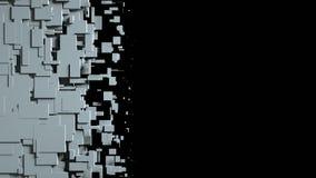 Η γραπτή οθόνη κύβων σκουπίζει τη μετάβαση Στοκ Φωτογραφίες