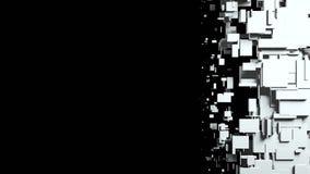 Η γραπτή οθόνη κύβων σκουπίζει τη μετάβαση Στοκ εικόνες με δικαίωμα ελεύθερης χρήσης