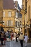 η γραφική πόλη του Λα Caneda Sarlat στο τμήμα Dordogne, Aquitaine, Γαλλία στοκ εικόνες με δικαίωμα ελεύθερης χρήσης