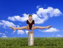 η γυμναστική κοριτσιών θέτ&e στοκ εικόνες με δικαίωμα ελεύθερης χρήσης
