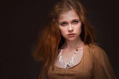 Η γυναίκα έντυσε ως Αμαζώνες Στοκ Φωτογραφίες
