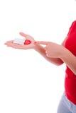 Η γυναίκα αποτρέπει με τα προφυλακτικά Στοκ φωτογραφίες με δικαίωμα ελεύθερης χρήσης
