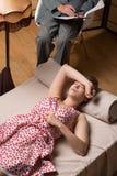 Η γυναίκα είναι διανοητικά - άρρωστος Στοκ εικόνες με δικαίωμα ελεύθερης χρήσης