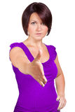 Η γυναίκα θέλει να τινάξει το χέρι σας Στοκ Φωτογραφία