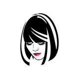 Η γυναίκα με τα κόκκινα χείλια ελεύθερη απεικόνιση δικαιώματος
