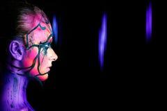 Η γυναίκα με τη φαντασία αποτελεί Στοκ Φωτογραφία