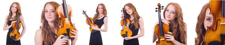 Η γυναίκα με το βιολί που απομονώνεται στο λευκό Στοκ φωτογραφία με δικαίωμα ελεύθερης χρήσης