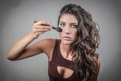 η γυναίκα με το ραβδί στοκ εικόνες