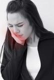 Η γυναίκα πάσχει από τον πονόδοντο Στοκ εικόνες με δικαίωμα ελεύθερης χρήσης