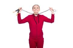 Η γυναίκα στην αθλητική έννοια Στοκ φωτογραφία με δικαίωμα ελεύθερης χρήσης