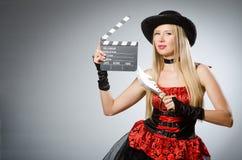 Η γυναίκα στο κοστούμι πειρατών - έννοια αποκριών Στοκ εικόνα με δικαίωμα ελεύθερης χρήσης