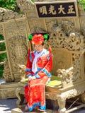 Η γυναίκα στο παλαιό παραδοσιακό κινέζικο ντύνει στην απαγορευμένη πόλη στο Πεκίνο, Κίνα Στοκ εικόνες με δικαίωμα ελεύθερης χρήσης