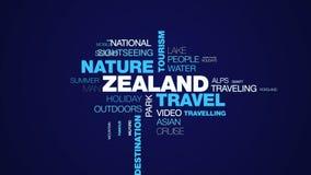 Η γυναίκα τόπου προορισμού τουριστών διακοπών τρόπου ζωής τοπίων νησιών τουρισμού με σκοπο την επαφή με τη φύση ταξιδιού της Ζηλα απόθεμα βίντεο