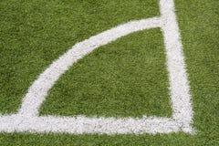 Η γωνία ενός αγωνιστικού χώρου ποδοσφαίρου Στοκ εικόνα με δικαίωμα ελεύθερης χρήσης
