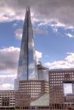 η γωνία 306m είναι κτηρίου οικοδόμησης της ΕΕ hdr ορόσημων καλυμμένος ουρανός scrapper του Λονδίνου νέος shard που λεπτός πιό ψηλ Στοκ Φωτογραφίες