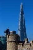 η γωνία 306m είναι κτηρίου οικοδόμησης της ΕΕ hdr ορόσημων καλυμμένος ουρανός scrapper του Λονδίνου νέος shard που λεπτός πιό ψηλ Στοκ εικόνες με δικαίωμα ελεύθερης χρήσης