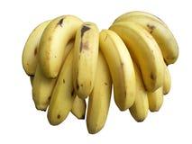 η δέσμη μπανανών ανασκόπησης απομόνωσε το λευκό Στοκ φωτογραφία με δικαίωμα ελεύθερης χρήσης