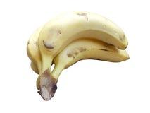 η δέσμη μπανανών ανασκόπησης απομόνωσε το λευκό Στοκ Εικόνες
