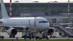 Η δίοδος πλησιάζει το airbus A320 απόθεμα βίντεο
