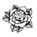 Η δερματοστιξία αυξήθηκε λουλούδι Διανυσματικό απομονωμένο τέχνη διάνυσμα απεικόνισης απεικόνιση αποθεμάτων