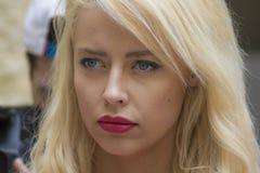Η Δεσποινίς διεθνής 2014 δεσποινίδα Σουηδία πορτρέτου προόδου Στοκ Φωτογραφίες