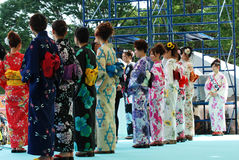 Η Δεσποινίς Fuji στο βασικό στάδιο εμφανίζει Fuji πόλη Ιαπωνία Στοκ Εικόνες