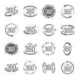 Η δημιουργική διανυσματική απεικόνιση 360 βαθμών άποψης αφορούσε το σύνολο σημαδιών που απομονώνεται στο διαφανές υπόβαθρο Σχέδιο Στοκ Εικόνες