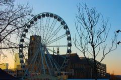 Η διάσημη αγορά στην καρδιά της μεγάλης πόλης του Ρότερνταμ, μια ολλανδική μητρόπολη στοκ φωτογραφία με δικαίωμα ελεύθερης χρήσης