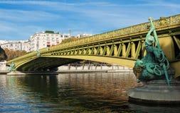 Η διάσημη γέφυρα Mirabeau, Παρίσι Γαλλία Στοκ φωτογραφίες με δικαίωμα ελεύθερης χρήσης