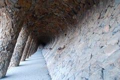 η διάσημη διάβαση s πάρκων gaudi guell Στοκ φωτογραφίες με δικαίωμα ελεύθερης χρήσης