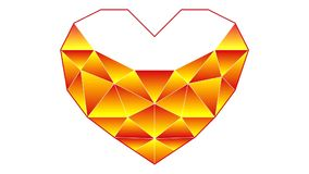 Η διαδικασία την καρδιά σε μια polygonal τεχνική Αγάπη youκειμένων «Ι» απόθεμα βίντεο