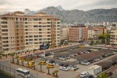 Η διαδικασία το νότο περιοχής παραλιών της πόλης Antalya gre Στοκ Εικόνα