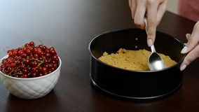 Η διαδικασία cheesecake απόθεμα βίντεο