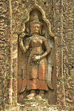Η διακοσμητική γλυπτική, ναός Preah Khan, Angkor περιοχή, Siem συγκεντρώνει, Καμπότζη Στοκ Φωτογραφίες
