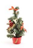 η διακόσμηση Χριστουγέννων ανασκόπησης απομόνωσε το λευκό Στοκ Εικόνες