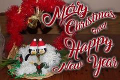 Η διακόσμηση Χριστουγέννων για τις κάρτες ή οι ετικέττες παντρεύει τα cristmas Στοκ Φωτογραφία