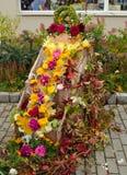 Η διακόσμηση χρώματος φθινοπώρου ανθίζει την έκθεση φύλλων Στοκ φωτογραφία με δικαίωμα ελεύθερης χρήσης
