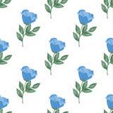 Η διανυσματική απεικόνιση απομονωμένου μπλε αυξήθηκε Στοκ Φωτογραφίες