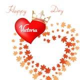 Η διανυσματική απεικόνιση ευτυχούς γιορτάζει την ημέρα Βικτώριας ελεύθερη απεικόνιση δικαιώματος