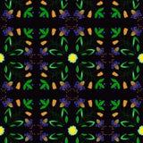 Η διανυσματική απεικόνιση του αφηρημένου λουλουδιού διακλαδίζεται άνευ ραφής σχέδιο Στοκ εικόνες με δικαίωμα ελεύθερης χρήσης