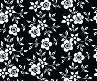 Η διανυσματική απεικόνιση των γραπτών λουλουδιών και βγάζει φύλλα τη διακόσμηση Στοκ Εικόνες