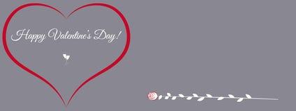 Η διανυσματική ευχετήρια κάρτα για την ημέρα βαλεντίνων ` s του ST με την καρδιά και αυξήθηκε διαστημικό κείμενό σας Στοκ εικόνα με δικαίωμα ελεύθερης χρήσης