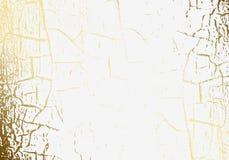 Η διανυσματική μαρμάρινη σύσταση ράγισε το χρυσό φύλλο αλουμινίου όρφνωση Χρυσή γρατσουνιά Λεπτό ελαφρύ άσπρο υπόβαθρο διακοπών Α ελεύθερη απεικόνιση δικαιώματος