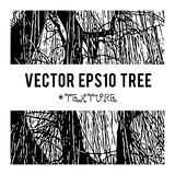 Η διανυσματική σκιαγραφία ενός δέντρου για το υπόβαθρο με τις φυσικές συστάσεις φυλλώματος Στοκ εικόνα με δικαίωμα ελεύθερης χρήσης