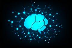 Η διανυσματική τεχνολογία στην έννοια εγκεφάλου είναι το κέντρο των διάφορων συστημάτων Στοκ Εικόνες